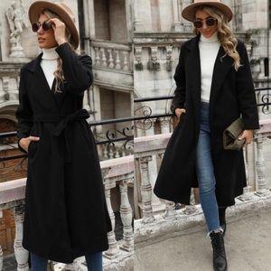 Black Belted Coat NWT